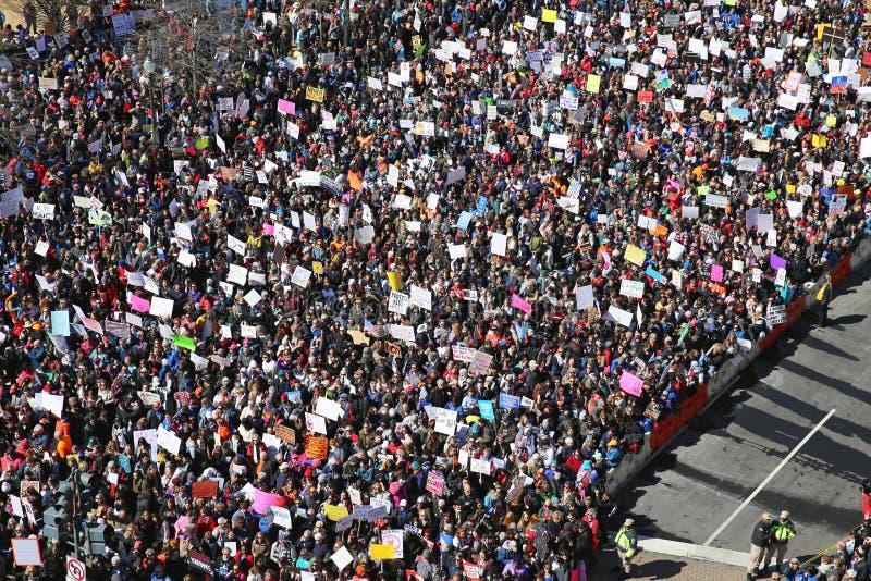 Marzo per la nostra protesta 3, Washington, D di vite C fotografia stock