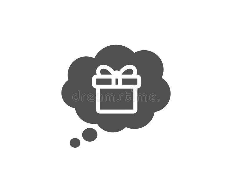 Marzyć prezent prosta ikona Teraźniejszy pudełko znak ilustracja wektor