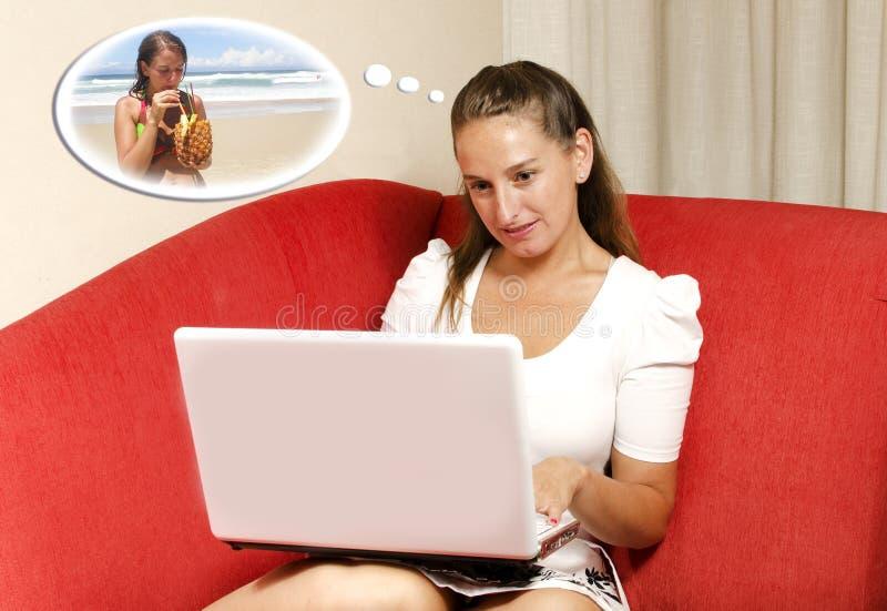 marzy wakacje jej kobiety zdjęcie stock