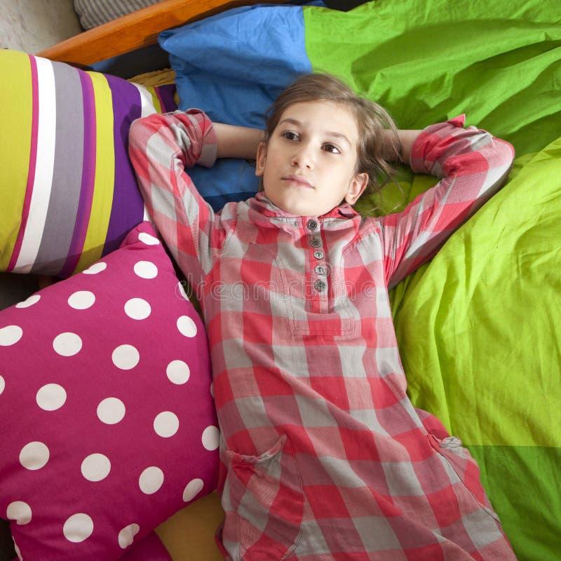 Marzycielki dziewczyna zdjęcie royalty free