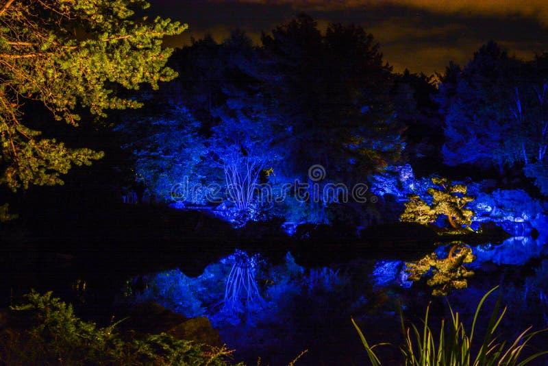Marzycielski Landsacpe przy ogródami światło, Montreal, Kanada obraz royalty free