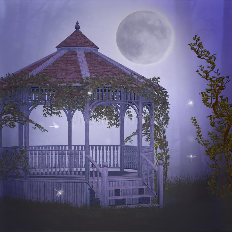 marzycielski ogród royalty ilustracja