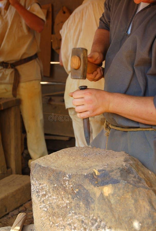 Download Masón de piedra foto de archivo. Imagen de corte, hombre - 1288168