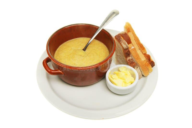 masło chlebowa polewka obraz stock