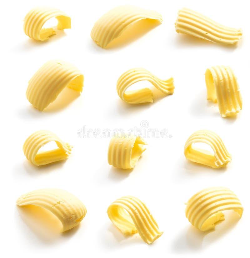 Masło kędzior odizolowywający obraz stock