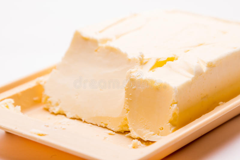Masło na talerzu fotografia royalty free