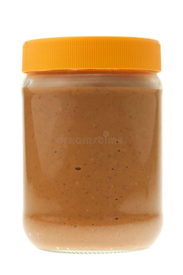 masło odizolowywający słoju arachid obraz stock