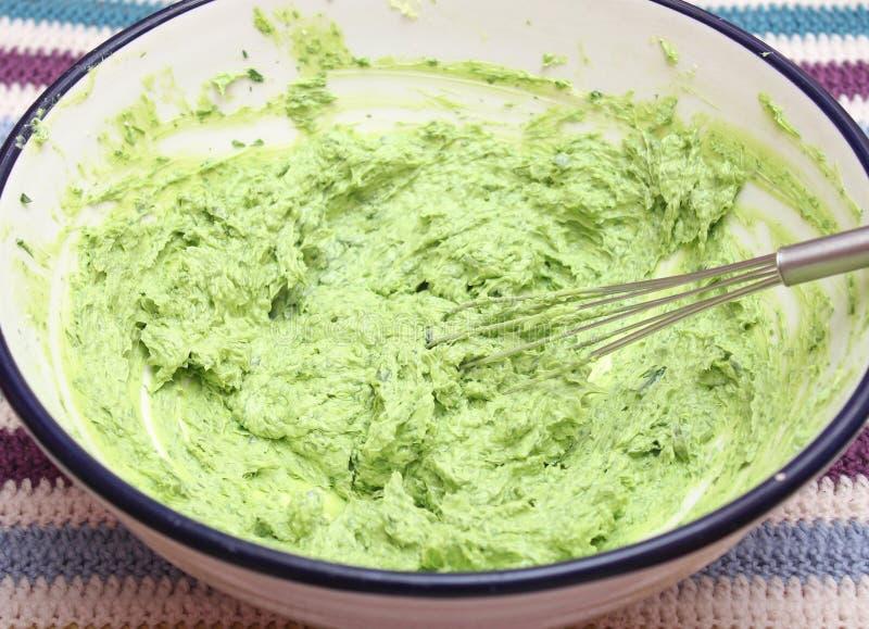 Masło z ziele obrazy stock