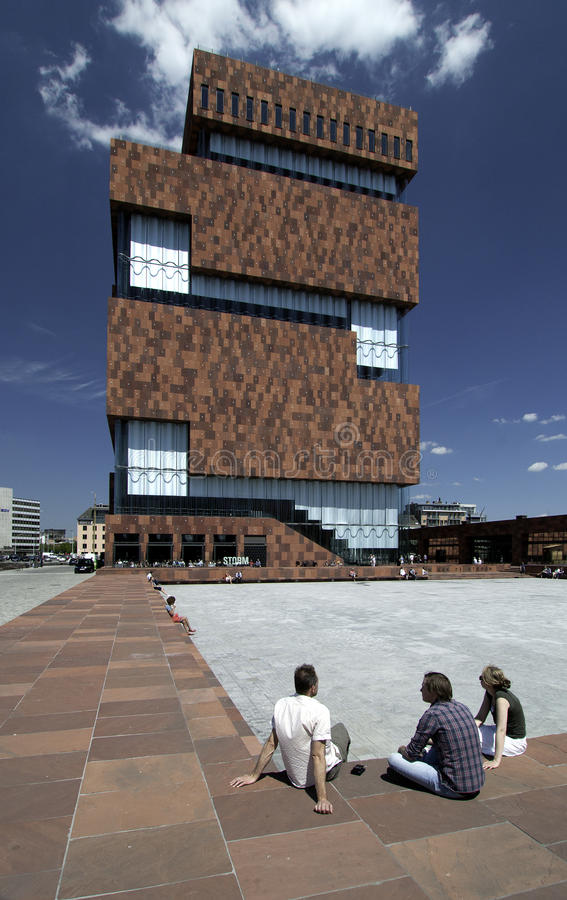 MAS博物馆aan de Stroom,安特卫普比利时 免版税库存图片
