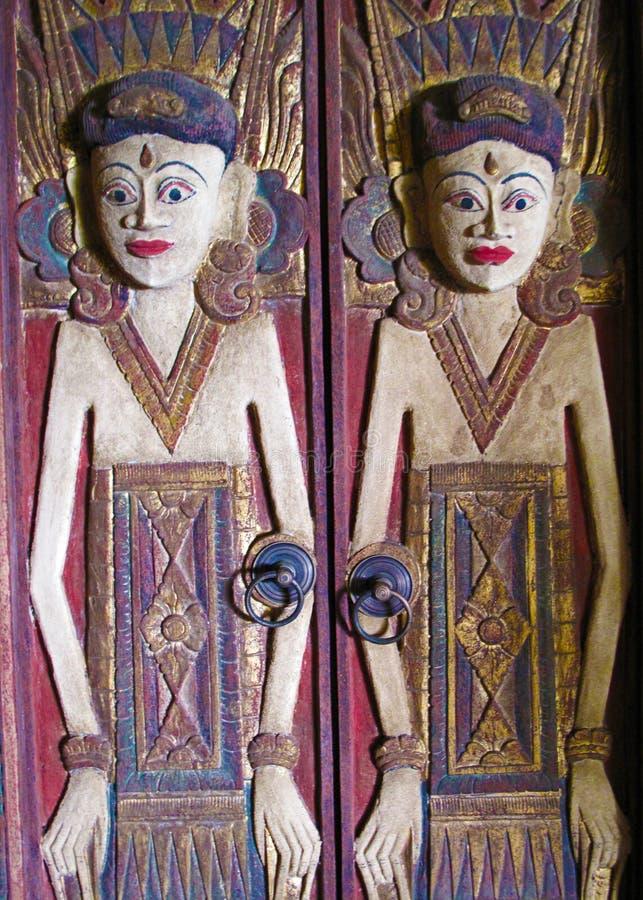 Mas村庄木雕刻的巴厘岛01 图库摄影