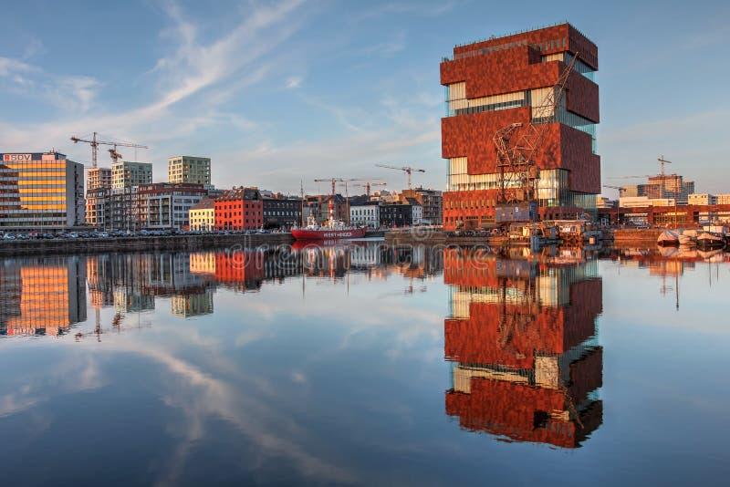 MAS Antwerp, Belgien royaltyfri fotografi