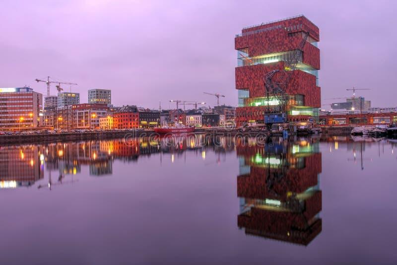 MAS Antwerp, Belgien arkivfoto
