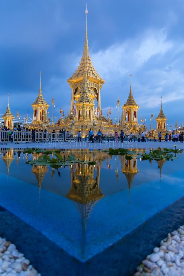 MAS Meru Phra το βασιλικό κρεματόριο του βασιλιά Αυτού Εξοχότη στοκ φωτογραφία