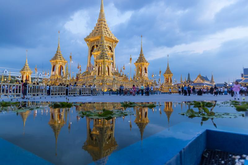 MAS Meru Phra το βασιλικό κρεματόριο του βασιλιά Αυτού Εξοχότη στοκ φωτογραφίες με δικαίωμα ελεύθερης χρήσης