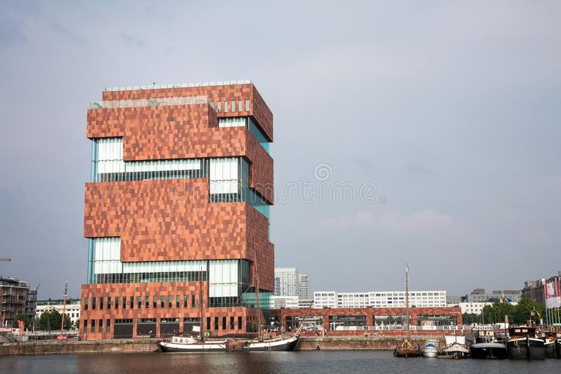 MAS muzeum, Antwerp, Belgia zdjęcia stock