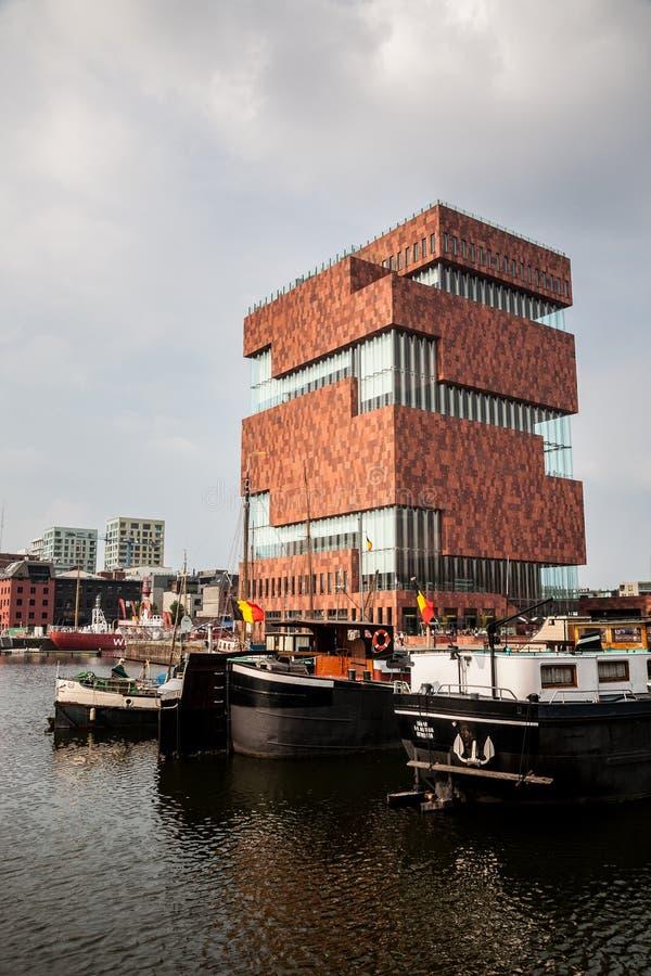 MAS muzeum, Antwerp, Belgia zdjęcie stock