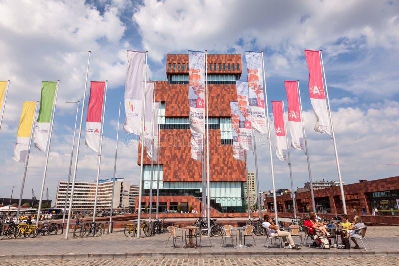 MAS - muzeum przy rzeką w Antwerp, Belgia zdjęcia stock