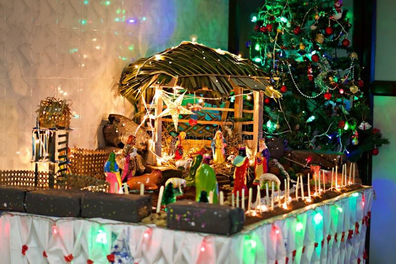 Mas van Christus voederbak die op kind Jesus wachten om geboren te zijn stock afbeeldingen