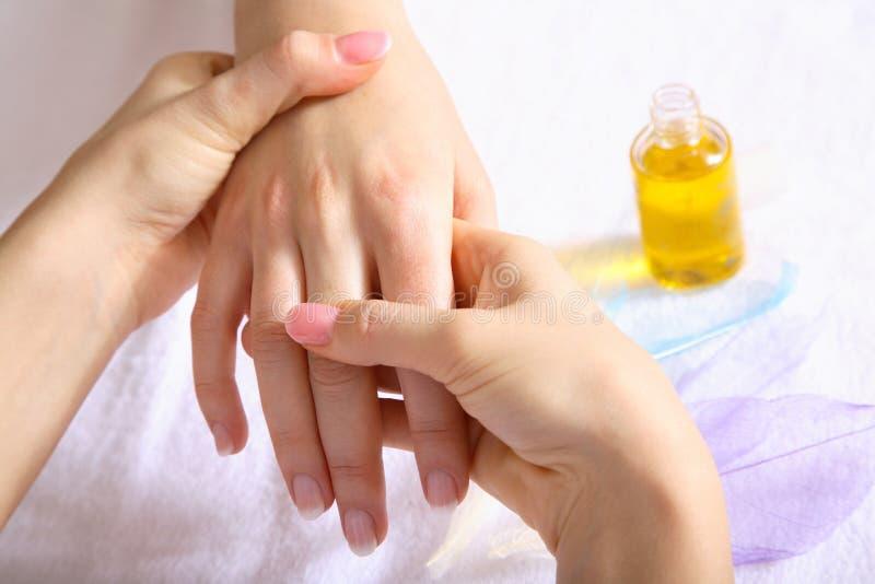 masaż dłoni fotografia stock