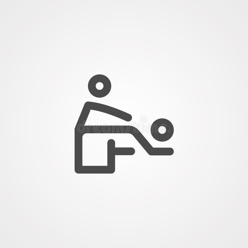 Masaż ikony znaka wektorowy symbol royalty ilustracja