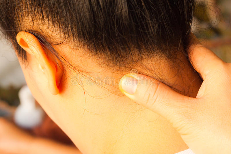 masaż kierownicza refleksologia zdjęcie stock
