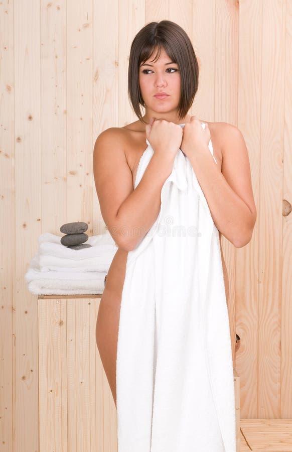 masaż relaksuje sauna sesi kobiety zdjęcia royalty free