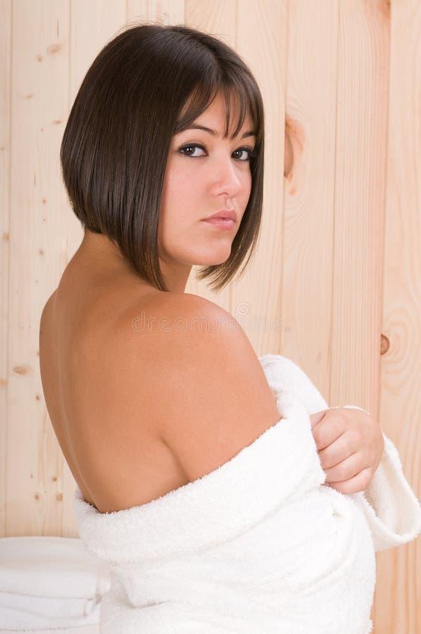 masaż relaksuje sauna sesi kobiety obrazy stock