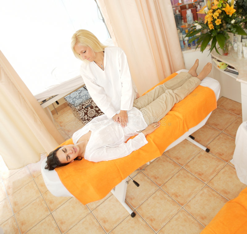 masaż salon piękności obraz royalty free