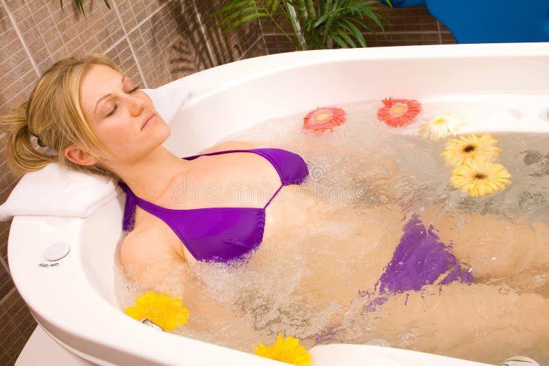 masaż wody zdjęcie royalty free