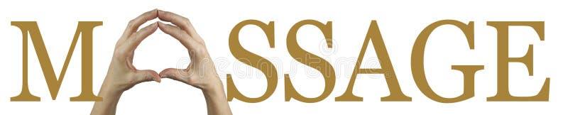 Masaż Wręcza sztandar zdjęcie stock