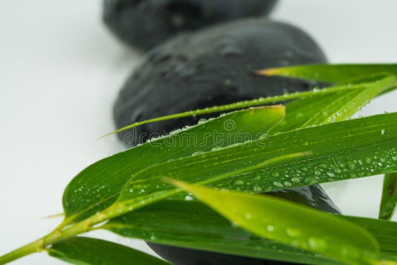 Masażu czerni i wyposażenia kamienie obraz stock