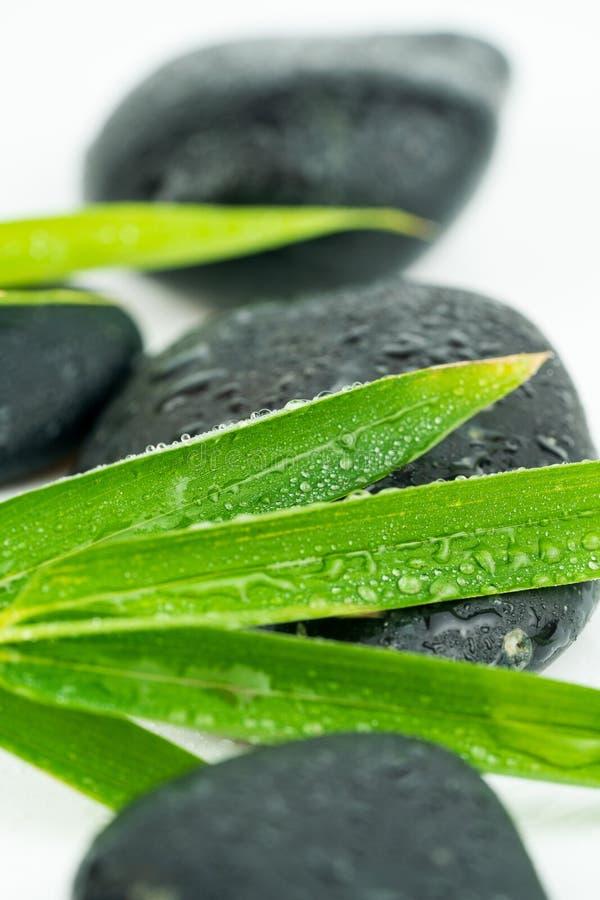 Masażu czerni i wyposażenia kamienie zdjęcie stock