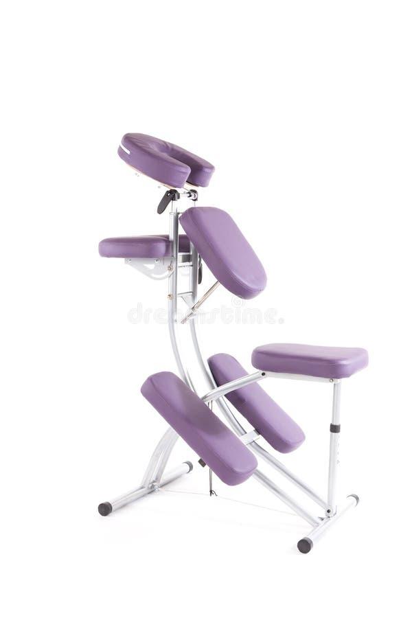 Masażu krzesło na bielu zdjęcie stock