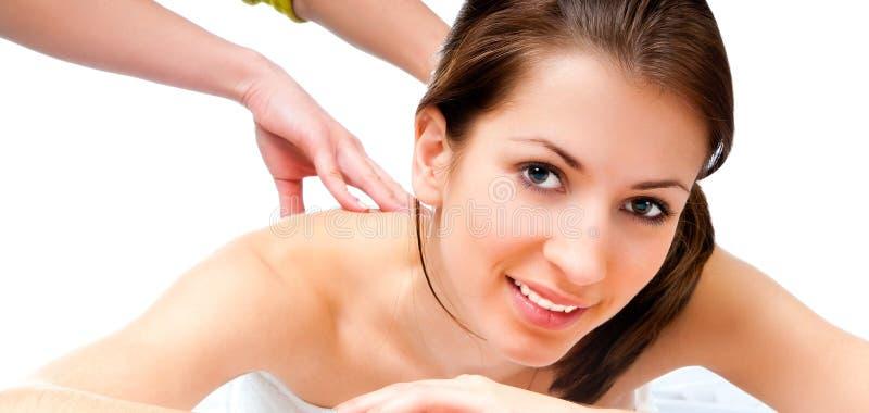 masażu odbiorcza salonu zdroju kobieta zdjęcia stock