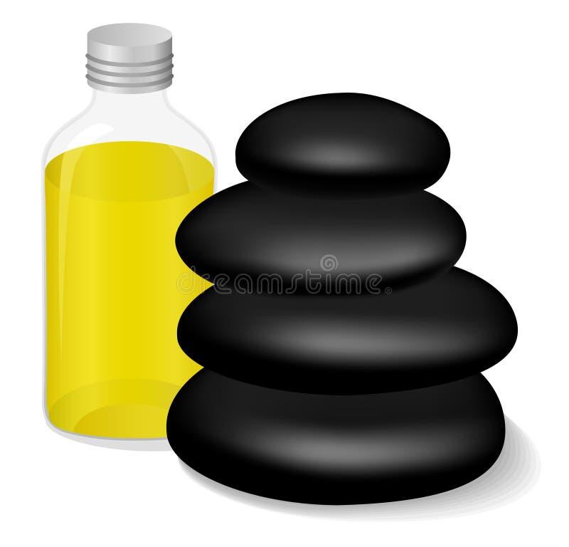 masażu olej royalty ilustracja