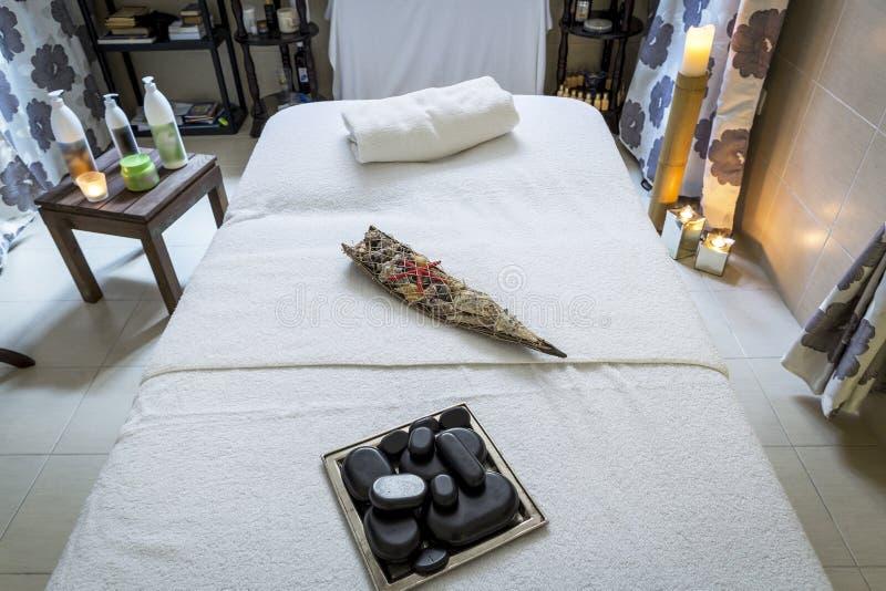 Masażu pokój i zdrojów traktowania uwalnia pokój dla, opróżnia i zdjęcie stock