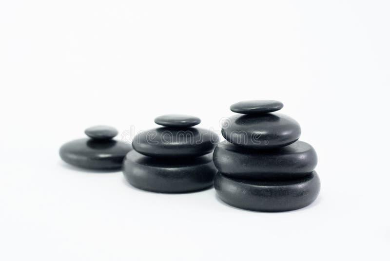 Masaży czarny kamienie zdjęcie royalty free