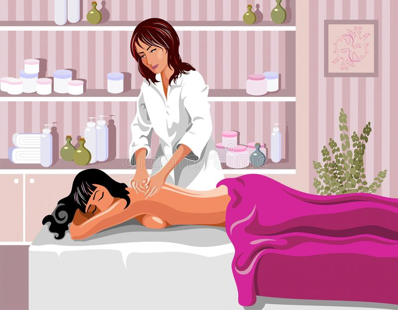 masażystka royalty ilustracja