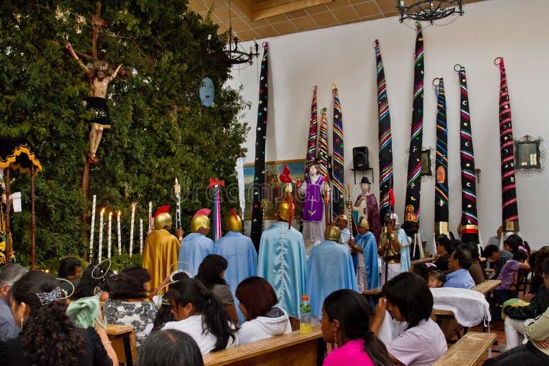 Masa de la semana santa de la gloria en Alangasi, Ecuador foto de archivo libre de regalías