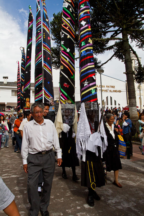 Masa de la semana santa de la gloria en Alangasi, Ecuador imágenes de archivo libres de regalías