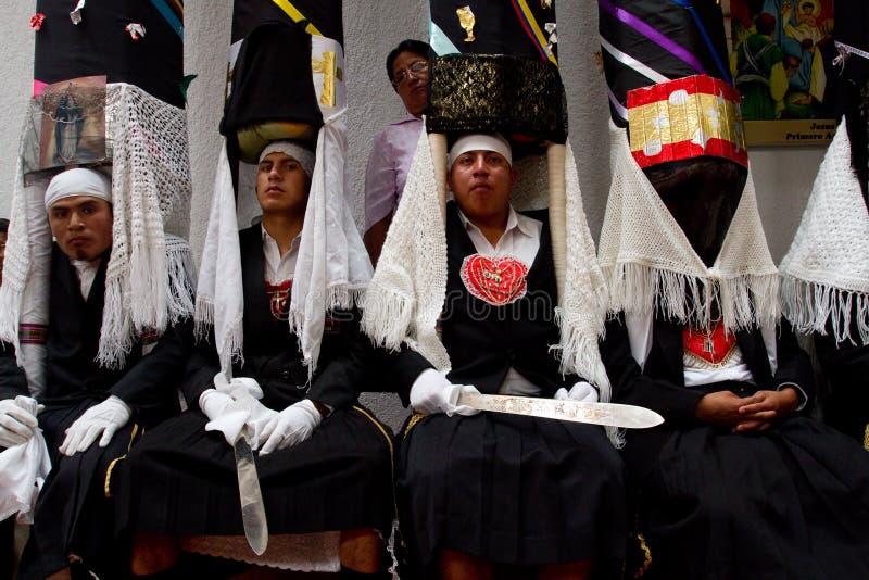 Masa de la semana santa de la gloria en Alangasi, Ecuador fotos de archivo