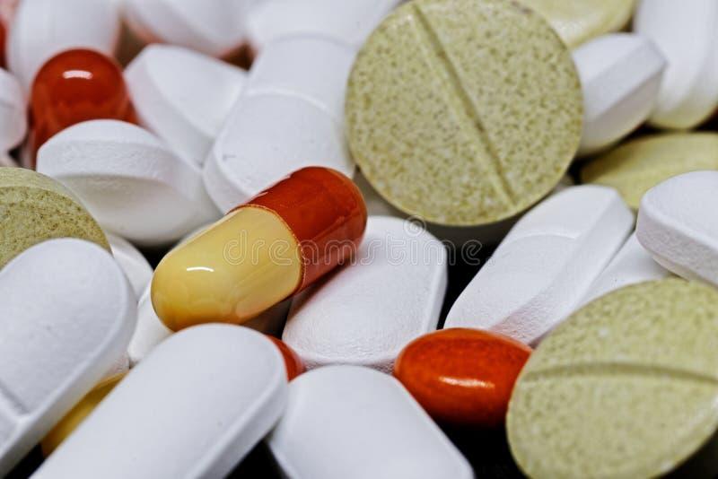 Masa de las píldoras de la medicina foto de archivo