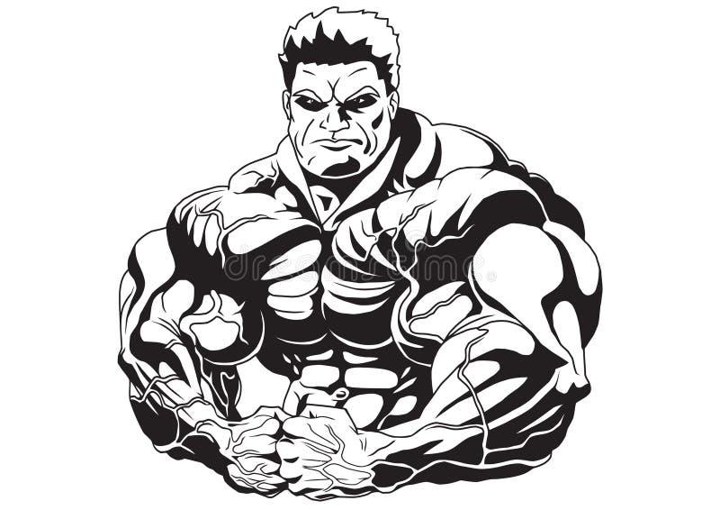 Masa del músculo ilustración del vector