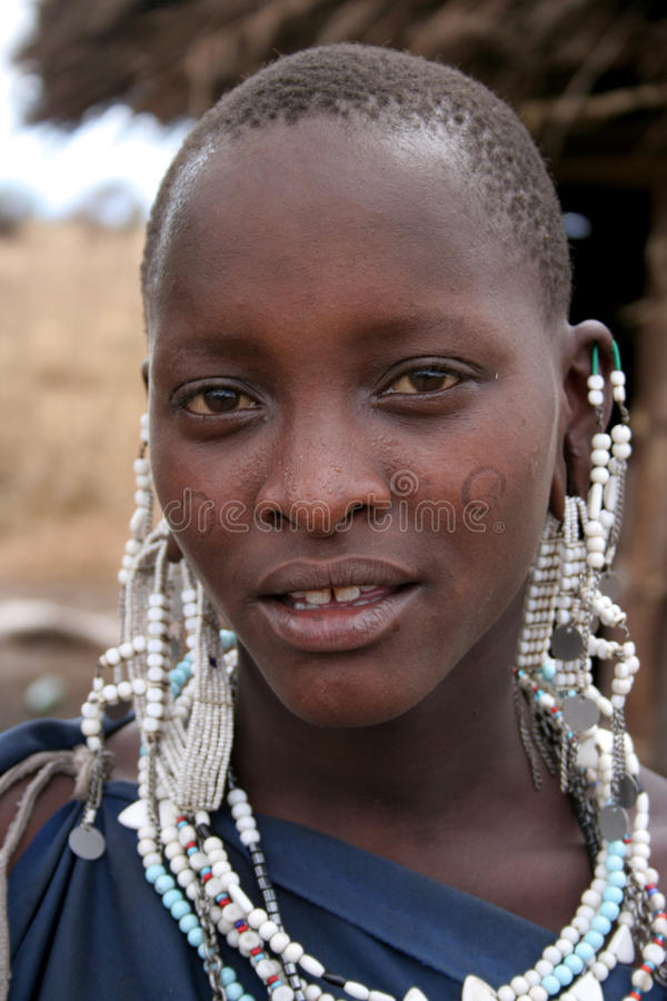masaai妇女 免版税库存图片