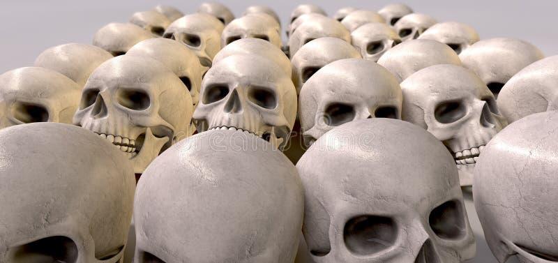 Masacre de cráneos foto de archivo