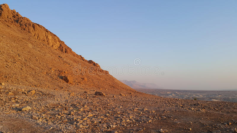 Masada堡垒 judean的沙漠 图库摄影