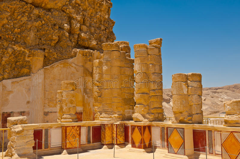 Download Masada obraz stock. Obraz złożonej z stary, fort, fresk - 25860425