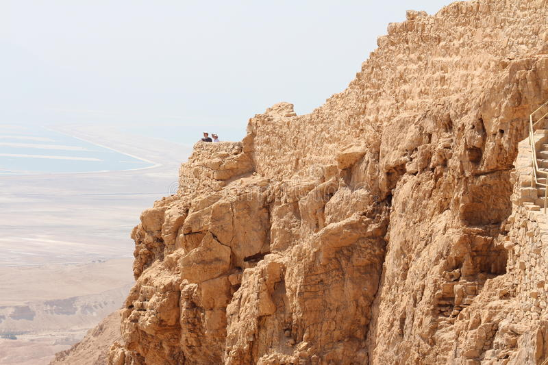 Masada Castle Ruin - Israel. Masada (Modern Hebrew מצדה metzadá fortress) is an ancient fortification in the Southern District of Israel royalty free stock photo