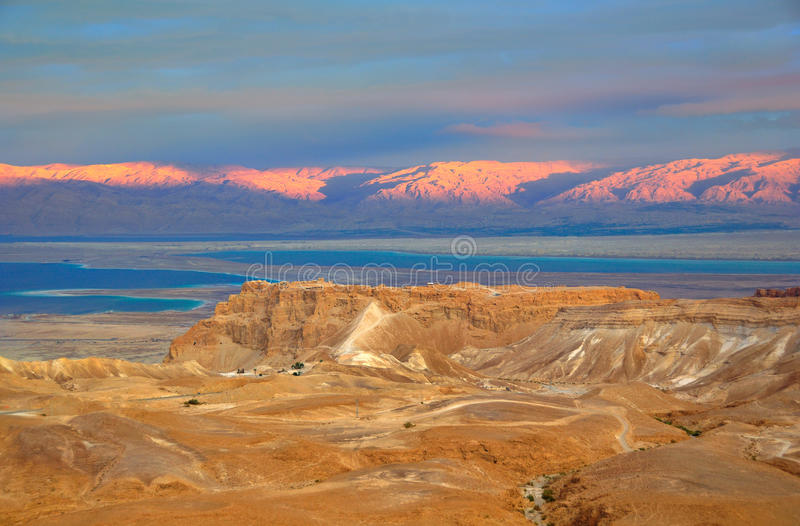 Masada and the Dead Sea, Israel stock photos