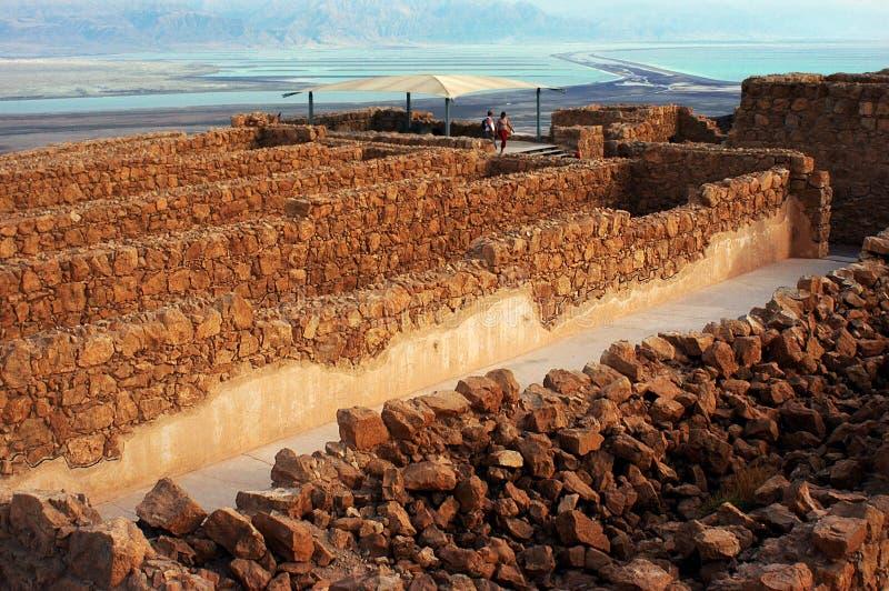 Masada fästning Israel fotografering för bildbyråer